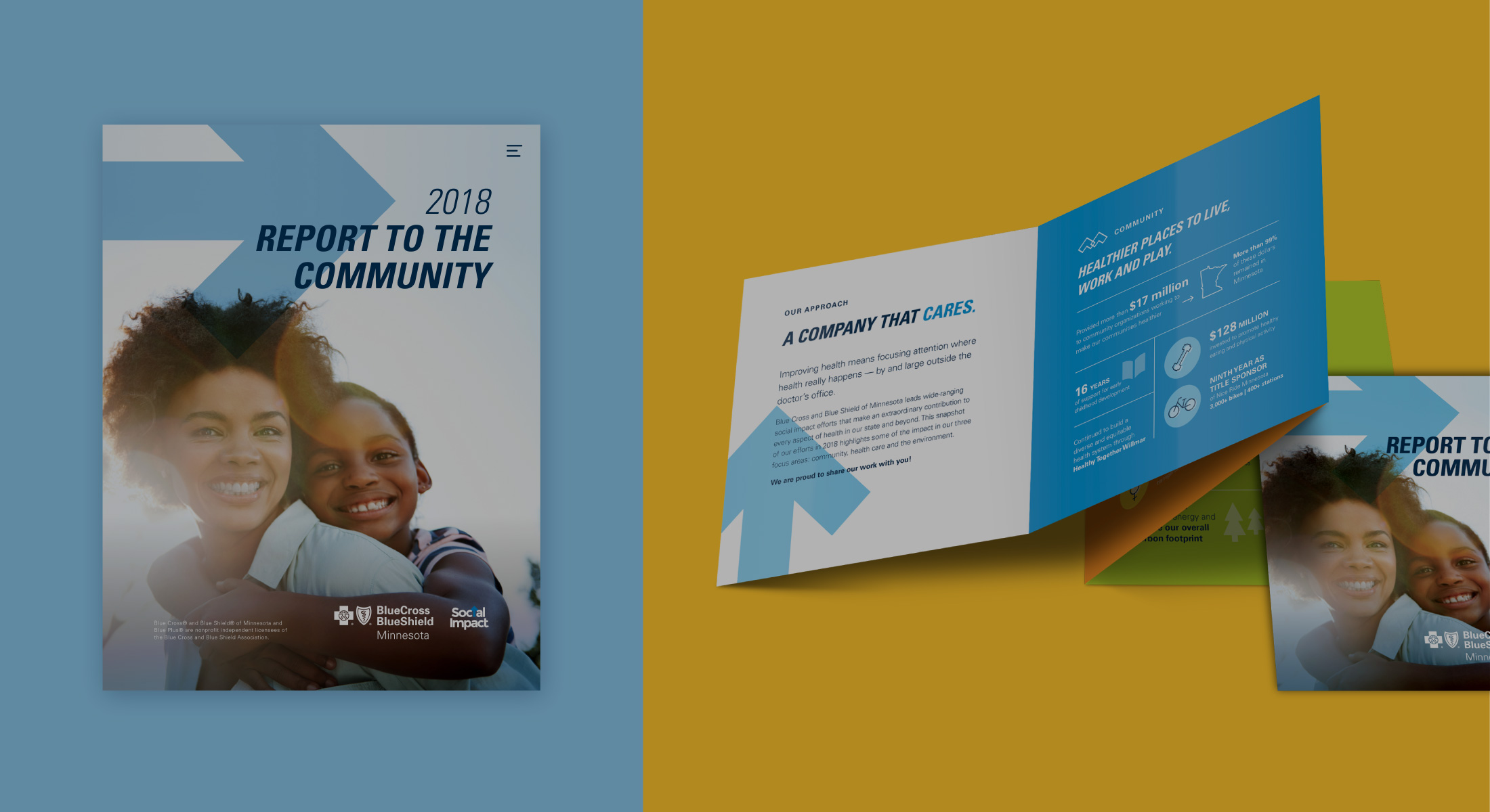 Blue Cross Blue Shield of Minnesota | Report to the Community Design | 5IVE | Minneapolis, MN